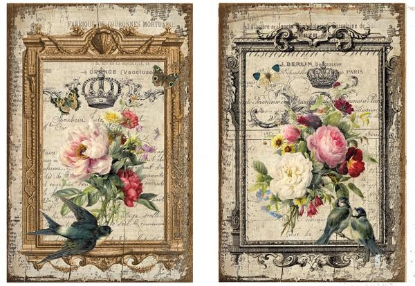 "Decoupagepapier ""Vintage Flowers"" 3"