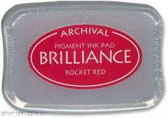 Archival Ink Brilliance Rocket Red