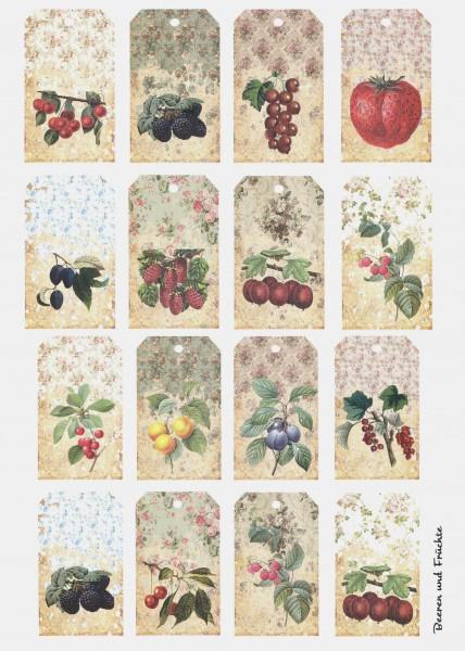 """Keramikpapier """"Beeren & Früchte I"""""""
