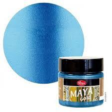 Maya Gold - Mittelblau