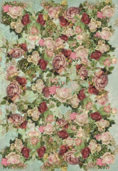 "Decoupagepapier ""Antique Roses"" 1"