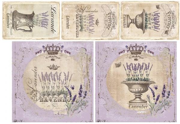 """Decoupagepapier """"Lavendel"""" 2"""