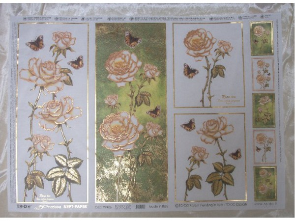 "Decoupage Bogen 50 x 70 cm /"" Blumen /""    # 34 #"