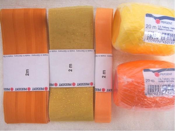 Schleifenbänder - Gelb/Gold