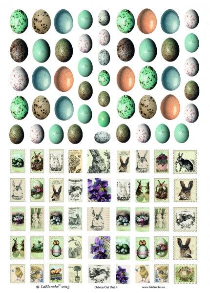 """Keramikpapier mit vorgestanzten Motiven """"Ostern II"""""""