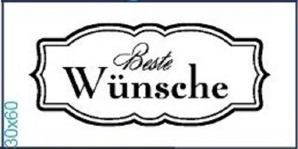 """Stempel """"Beste Wünsche"""""""