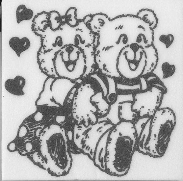 """Stempel """"Teddy Liebespaar"""""""