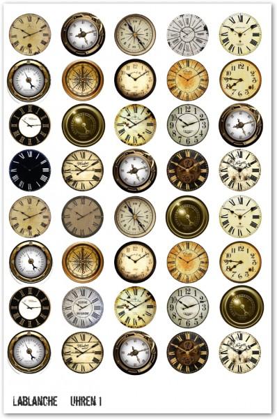 """Keramikpapier """"Uhren I"""""""