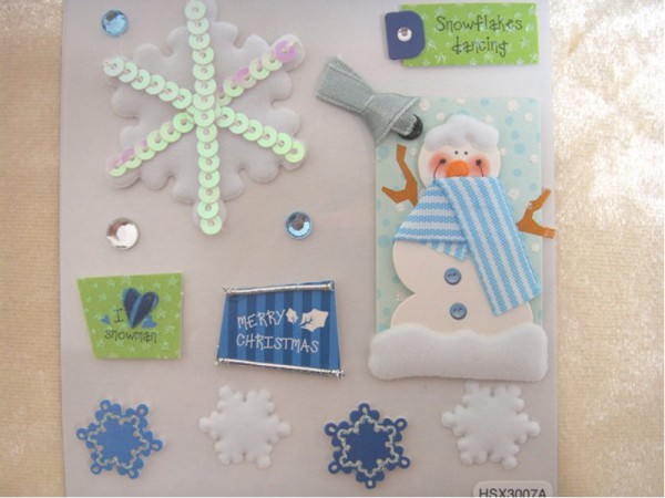 3D-Papiersticker Winter 3