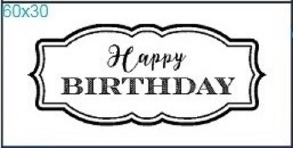 "Stempel ""Happy Birthday"""