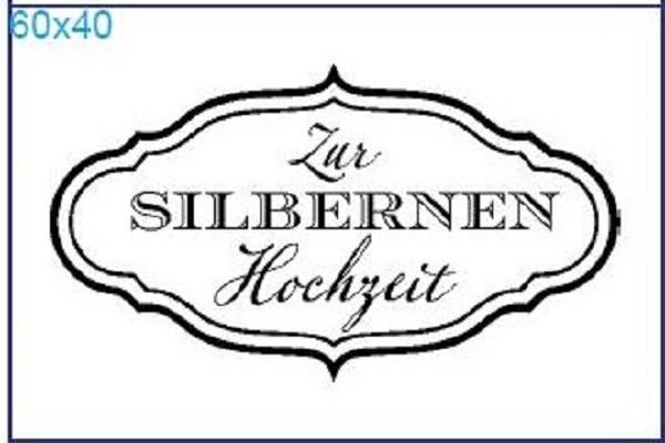 """Stempel """"Zur Silbernen Hochzeit"""""""