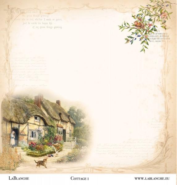 """Designpapier """"Cottage"""" 1"""