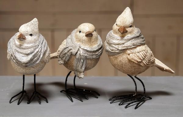 Vogel mit Schal - klein