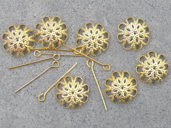 Perlenkappen mit Kettelstiften