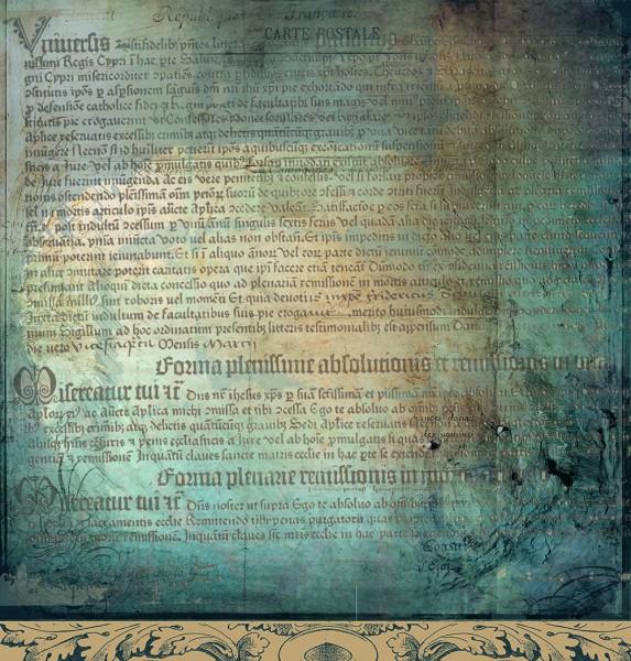 """Designpapier """"Noten & Schriften"""" 7"""