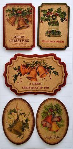 "Sticker ""Vintage Christmas"" 04"
