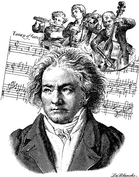 """Stempel """"Beethoven mit Orchester"""""""