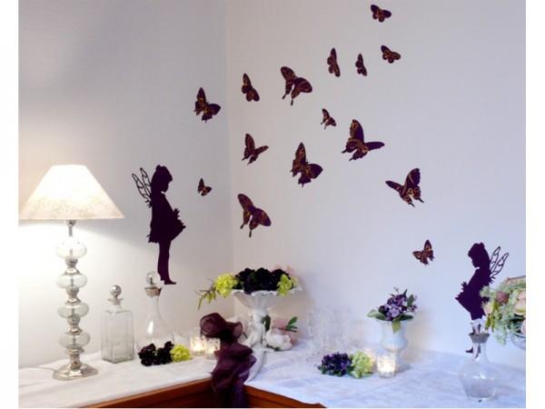 "Wandsticker ""Schmetterlinge"" - Violett"