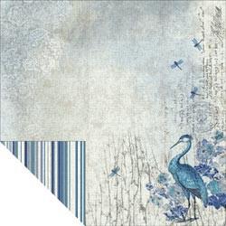 "Designpapier ""Blue Heron"" 2"