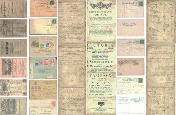 """Tags """"Postkarten/Schriftrollen"""" (3 St.)"""