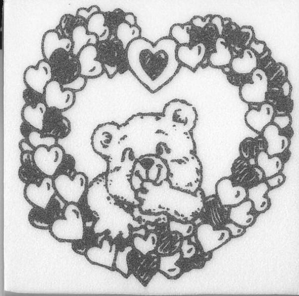 "Stempel ""Teddy im Herzrahmen"""