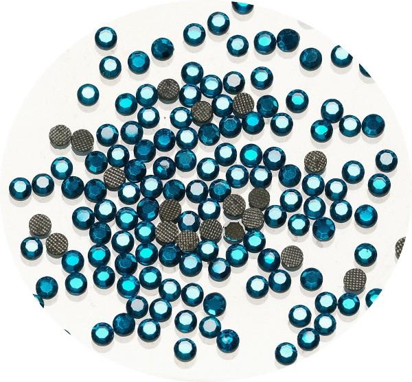 Rhinestones-Strasssteine blau, 4 mm