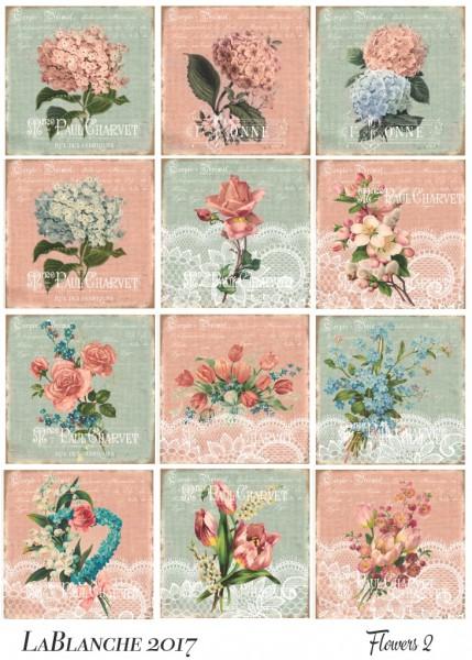 """Keramikpapier """"Blumen II"""""""