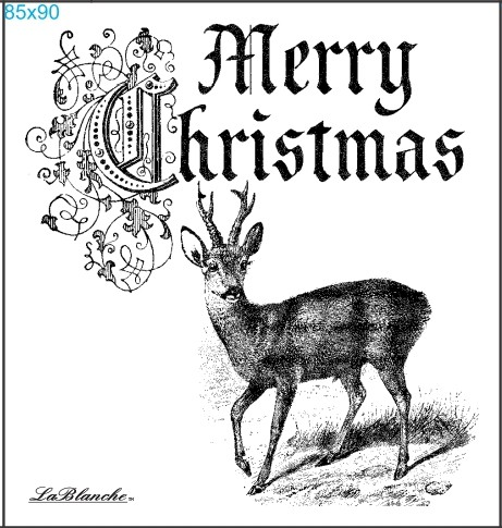 "Stempel ""Merry Christmas Reh"""