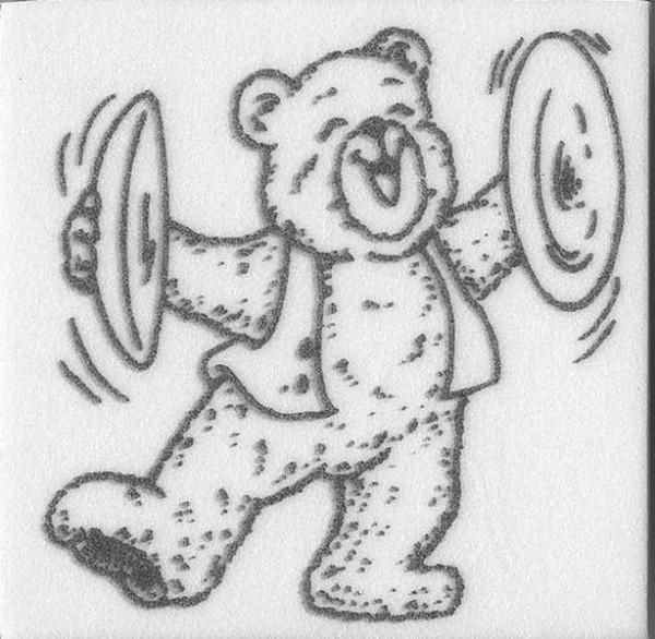 """Stempel """"Teddy Musik"""""""