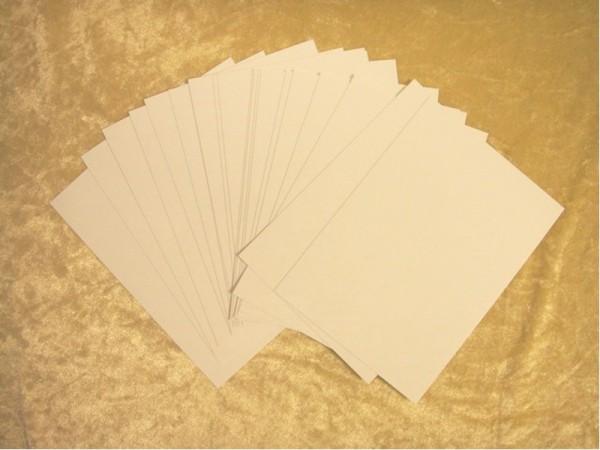 """Chromoluxpapier """"10 x 14 cm Blanko"""" (20 Bogen)"""