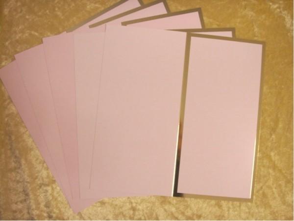 """Karten mit Goldrand """"Rosa I"""" (5 St.)"""