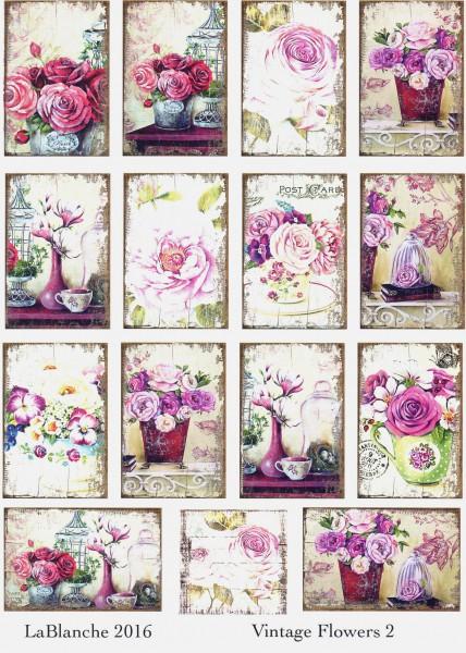 """Keramikpapier """"Vintage Flowers II"""""""