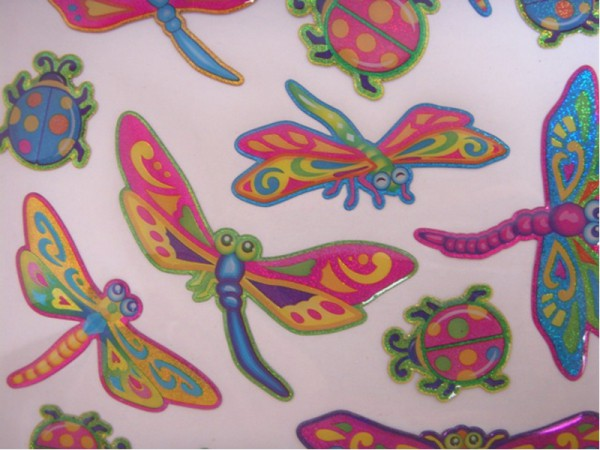 "Epoxy Hologramm Sticker ""Libellen"""