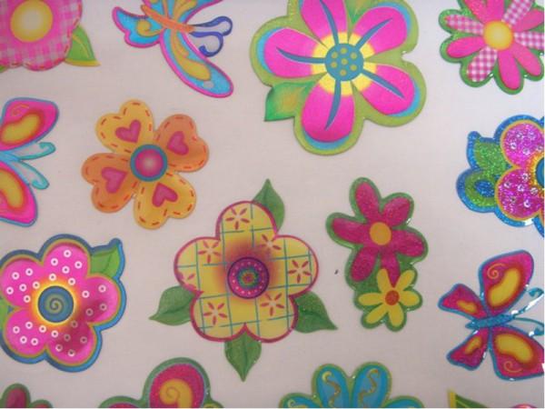"""Epoxy Hologramm Sticker """"Schmetterlinge und Blumen"""" 01"""