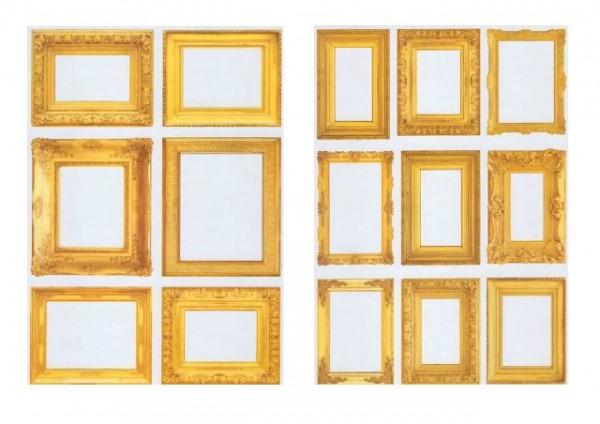 "Bedruckte Stempelfolie ""Goldener Rahmen"""