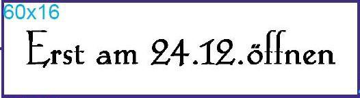 """Stempel """"24.12..."""""""