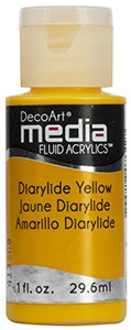 Media Fluid Acrylics - Diarylide Yellow